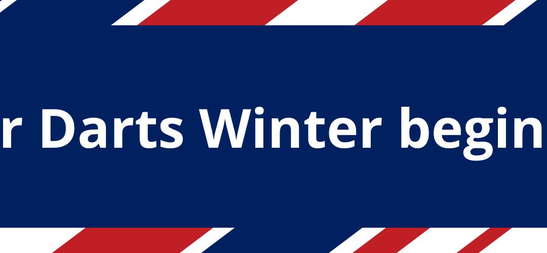 Der Darts Winter beginnt